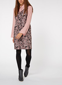 2-in-1 Jacquard Pinny Dress
