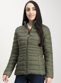 Khaki Green Padded Coat In A Bag