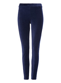 Navy Cord Leggings