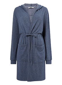 Soft Touch Hooded Dressing Gown