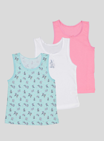 Multicoloured Bunny Vests 3 Pack (18 months - 10 years)