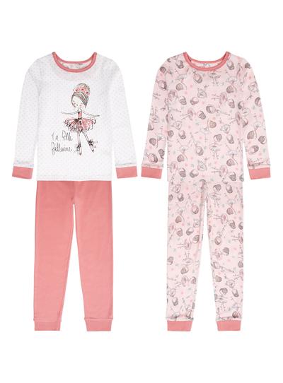 6da45731f Kids Girls Pink Ballerina Pyjamas 2 Pack (9 months- 12 years)