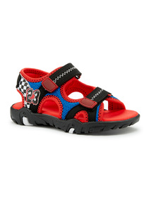 Multicoloured Car Racing Open Toe Sandals