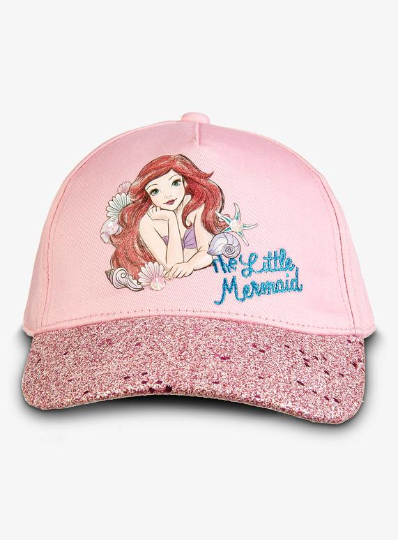 Kids Disney Princess Ariel Mermaid Pink Cap (1-9 years)  d008afe6529
