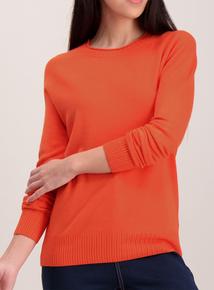 Orange Soft Touch Round Neck Jumper
