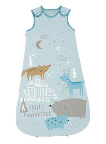 Blue Winter Animal Sleeping Bag (0-6 months-24 months)