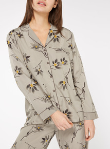 Watercolour Floral Long-Sleeved Top