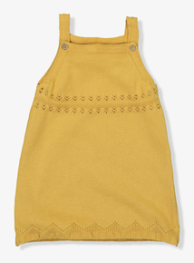 Mustard Knitted Pinafore Dress (0-24 months)