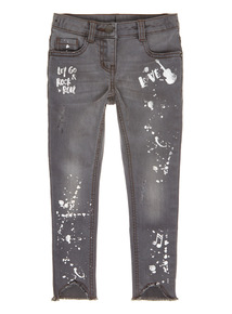 Grey Denim Distressed Jeans (3-14 years)