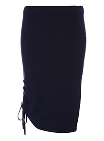 Knitted Tie Side Skirt