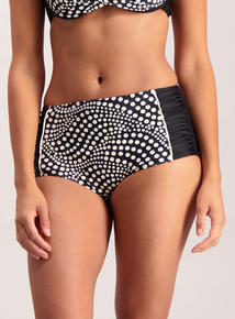 Black & White Multi-Spotted High Waist Bikini Brief