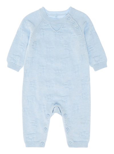 13482d981 Baby Boys Blue Knitted Romper Suit (0-12 months)