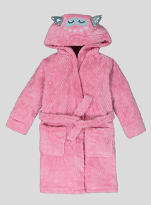 Fluffy Pink Monster Dressing Gown (1-12 years)