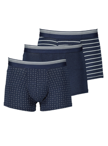 3 Pack Navy Hipsters