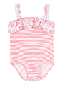 Pink Stripe And Spot Swimsuit (0 - 3 years)