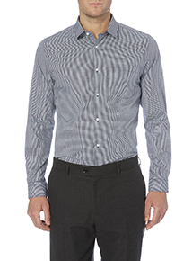 Navy Easy Iron Slim Fit Shirts 2 Pack