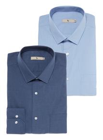 Blue 2Pack Chambray Shirts