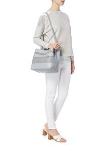 Grey Cut Out Handheld Bag