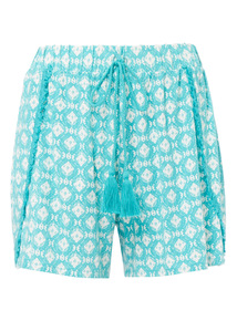 Multicoloured Patterned Petal Shorts