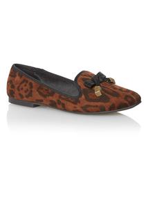 Brown Leopard Print Shoes