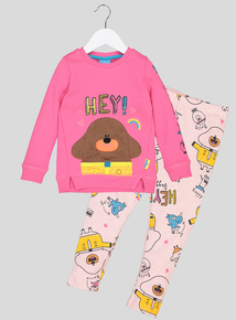 'Hey Duggee' Pink Printed 2 Piece Set (1- 6 years)
