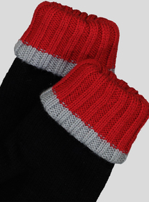 Thinsulate Black Knitted Gloves (1-12 years)