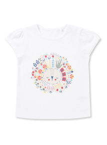White Lion Print T-Shirt (0-24 months)