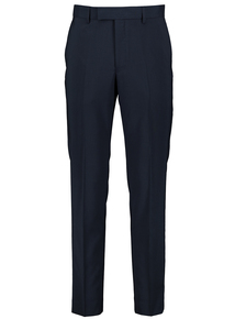 Online Exclusive Navy Dogtooth Slim Fit Suit Trousers