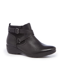 Sole Comfort Leather Ankle Boots