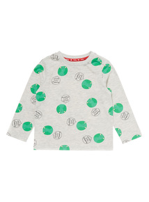 Grey Christmas Sprout Printed Tee (0-24 months)