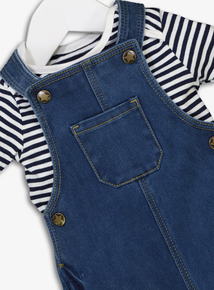 Denim Dungarees & Bodysuit Set (0-24 months)