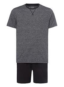 Black Grindle Fine Stripe Pyjamas