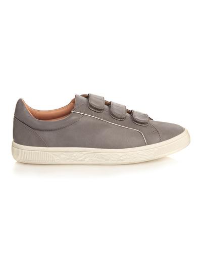Grey Cupsole Velcro Trainers