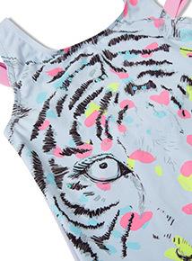 Purple Tiger Swimsuit (3-14 years)
