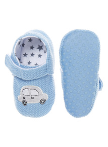 Boys Knitted Car Slippers (0-18 months)