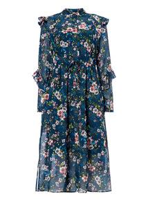 Longline Frill Floral Dress