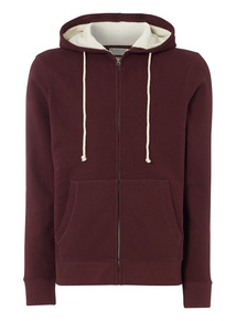 Oxblood Zip Through Hoody
