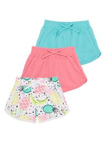 Neon Beach Shorts 3 Pack (3 - 12 years)