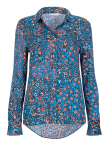 Multicoloured Ditsy Printed Western Shirt