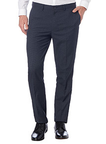Navy Micro Grid Trouser
