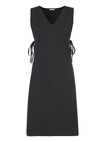 Charcoal Tie Side Pinafore