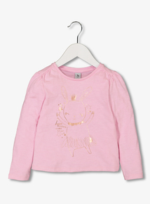 Pink Fairy Bunny Long-Sleeved Top (1 - 6 Years)