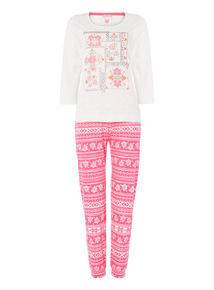 Cream Tapestry Pyjama Set