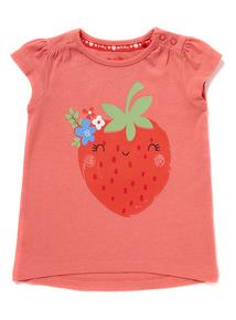 Pink Strawberry Tee (0 - 24 months)