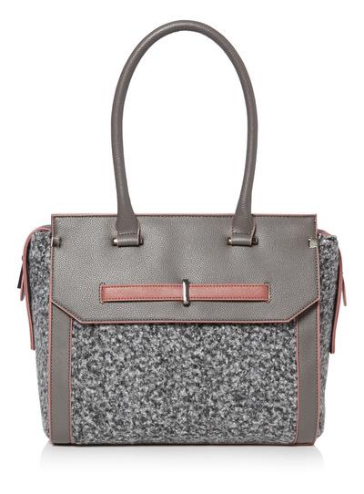 Boucle Panel Bag