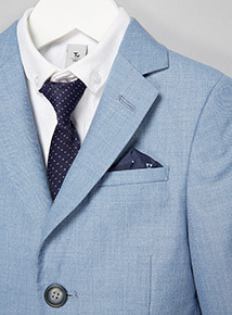 Light Blue Smart Occasion Suit Jacket (3-14 years)