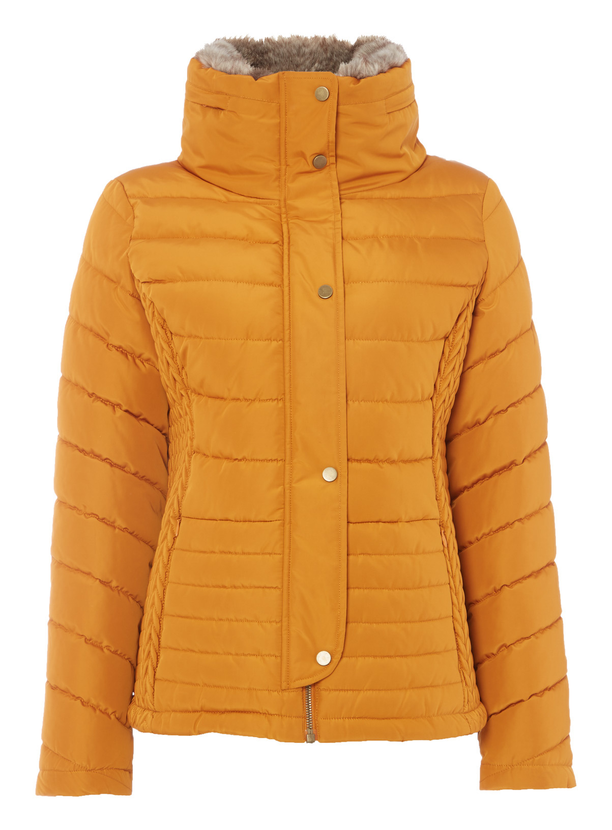 Womens Yellow Quilted Padded Jacket | Tu clothing : quilted padded coat - Adamdwight.com