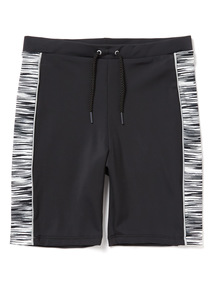 Monochrome Long Leg Swim Shorts (3-12 years)
