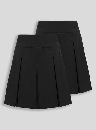 e42100ccd3 Kids Black Permanent Pleat Skirt 2 Pack (3-16 years) | Tu clothing