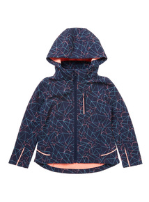 Girls Geometric Pattern Coat (3 - 12 years)